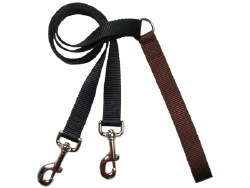 "2 Hounds - Training Leash - Brown 1"" Wide"