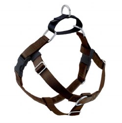 "2 Hounds - Freedom No-Pull Harness - Brown 1"" Wide - Large"