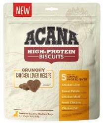Acana - High Protein Biscuits - Chicken Liver - Crunchy Treats - Small/Medium - 9 oz
