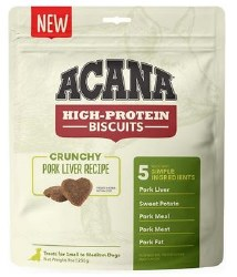 Acana - High Protein Biscuits - Pork Liver - Crunchy Treats - Small/Medium - 9 oz