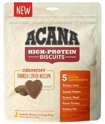 Acana - High Protein Biscuits - Turkey Liver - Crunchy Treats - Medium/Large - 9 oz
