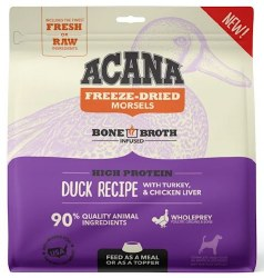 Acana - Freeze-Dried Morsels - Duck Recipe with Chicken and Turkey Liver - Freeze-Dried Dog Food - 8 oz
