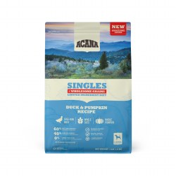 Acana Singles - Duck and Pumpkin + Wholesome Grains - Dry Dog Food - 4 lbs