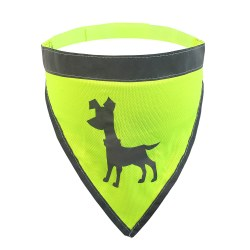 Alcott - Visibility Dog Bandana - Yellow - Large