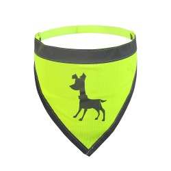 Alcott - Visibility Dog Bandana - Yellow - Medium