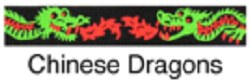 Beastie Bands - Cat Collar - Chinese Dragons