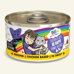 BFF OMG - Be Happy with Chicken & Beef - Canned Cat Food - 2.8 oz