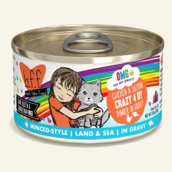 BFF OMG - Crazy 4 U with Chicken & Salmon - Canned Cat Food - 2.8 oz