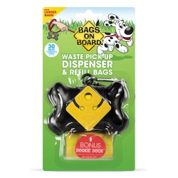 Bags on Board - Poop Bag Dispenser - Bone - Black