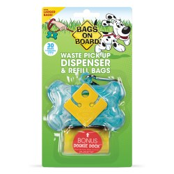 Bags on Board - Poop Bag Dispenser - Bone - Turquoise