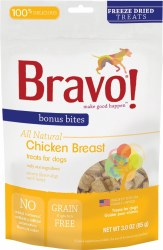 Bravo - Dog Treats - Chicken Breast - 3 oz