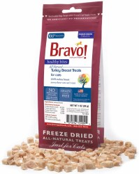 Bravo - Healthy Bites Turkey - Cat Treats - 1 oz