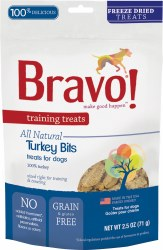 Bravo - Turkey Bits - Dog Treats - 2.5 oz