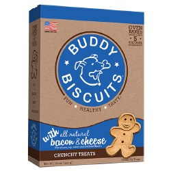 Buddy Biscuits - Dog Treats - Crunchy - Bacon & Cheese - 16 oz