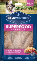 Barkworthies - Superfood Jerky - Chicken with Cranberry - 4 oz