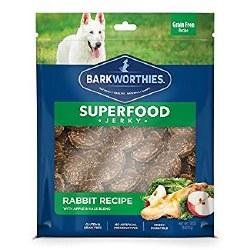 Barkworthies - Superfood Jerky - Rabbit with Apple - 4 oz