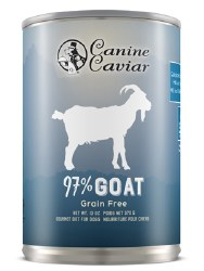Canine Caviar - 97% Goat - Canned Dog Food - 13 oz
