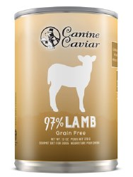 Canine Caviar - 97% Lamb - Canned Dog Food - 13 oz