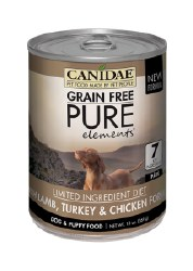 Canidae Grain Free - Pure Elements Lamb, Turkey & Chicken Formula - Canned Dog Food - 13oz