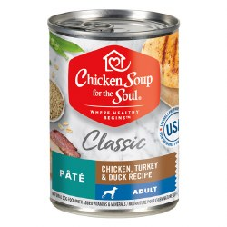 Chicken Soup for the Soul - Classic Adult Chicken, Turkey & Duck Pate - Canned Dog Food - 13 oz