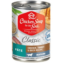 Chicken Soup for the Soul - Classic Mature Chicken, Turkey & Duck Pate - Canned Dog Food - 13 oz