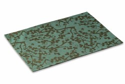 Crypton Placemat - Cherries - Teal - 26x18""