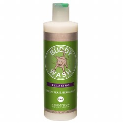 Buddy Wash - 2 in 1 Shampoo and Conditioner - Green Tea and Bergamot - 16 oz