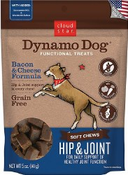 Cloud Star - Dog Treats - Dynamo Dog - Hip & Joint with Bacon - 14 oz