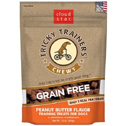 Cloud Star Tricky Trainers - Grain Free Chewy Peanut Butter Flavor - Dog Treats - 12 oz