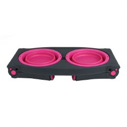 Dexas - Adjustable Raised Diner - Pink - 4 cups