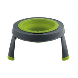 Dexas - Single Elevated Feeder - Green - 4 cups