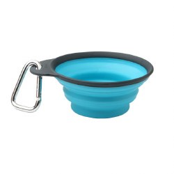 Dexas - Collapsible Travel Cup with Carabiner - Large Blue
