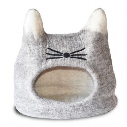 Dharma Dog Karma Cat - Felted Bed - Cat Cave - Natural