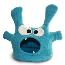 Dharma Dog Karma Cat - Felted Bed - Monster Cave - Turquoise