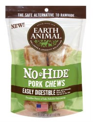 Earth Animal No Hide - Pork Chew - 4 in - 2 pack