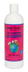 Earthbath - 2 in 1 Conditioning Cat Shampoo - Light Wild Cherry - 16 oz