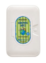 Earthbath - Grooming Wipes for Dogs - Green Tea and Awapuhi - 100 ct