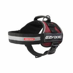 EzyDog - Convert Dog Harness - Burgundy - Medium