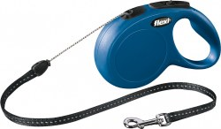 Flexi - Classic Cord Retractable Dog Leash - Blue - Medium - 26'