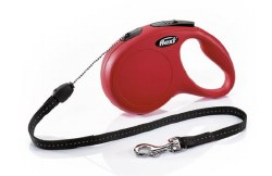 Flexi - Classic Cord Retractable Dog Leash - Red - Medium - 26'