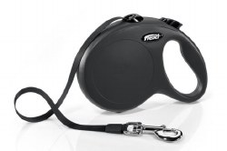 Flexi - Classic Tape Retractable Dog Leash - Black - Large - 16'