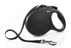 Flexi - Classic Tape Retractable Dog Leash - Black - Large - 26'