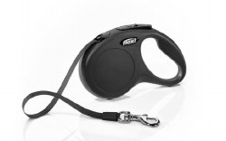 Flexi - Classic Tape Retractable Dog Leash - Black - Small - 16'
