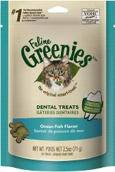 Greenies - Ocean Fish Flavor Dental Treats - Cat Treats - 2.5 oz