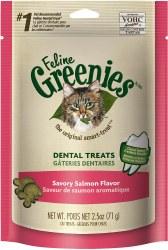 Greenies - Salmon Flavor Dental Treats - Cat Treats - 2.5 oz