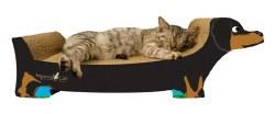 Imperial Cat - Cardboard Scratcher - Black Dachshund - Small