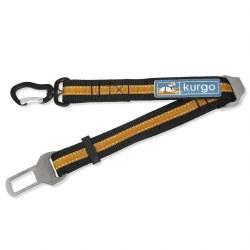 Kurgo - Seatbelt Tether with Swivel - Black and Orange