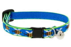 Lupine - Adjustable Cat Collar with Bell - Blue Bees