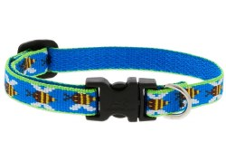 Lupine - Adjustable Cat Collar - Blue Bees