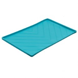 Messy Mutts - Silicone Food Mat with Rods - Blue - Large